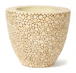 Natural trendy wood planter 61x52cm