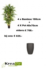 Bamboe set x4 pot high