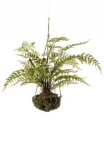 Fern forest on iron stand round hanging 45cm
